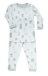 Noomie - 2 Piece Pajamas Monster Grey 12-18