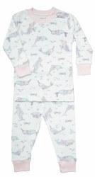 Noomie - 2 Piece Pajamas Narwhal 12-18