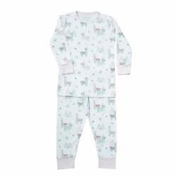 Noomie - 2 Piece Pijamas White Llama 12-18