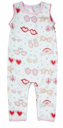 Noomie - Romper with Pom Poms - Pink Shades 0-3