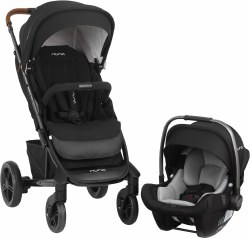 Nuna - Tavo Stroller and Pipa Lite LX Car Seat Travel System - Caviar
