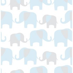 Nu Wall Paper - Wallpaper - Elephant Parade Blue