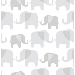 Nu Wall Paper - Wallpaper - Elephant Parade Grey