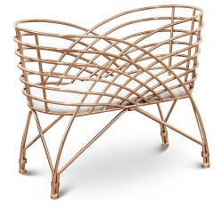 Nursery Works - Aura Metal Bassinet Rose Gold