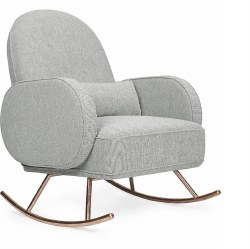 Nursery Works - Compass Rocker with Rose Gold Legs - Light Grey
