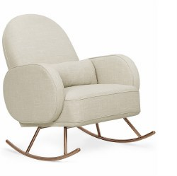 Nursery Works - Compass Rocker with Rose Gold Legs - Oatmeal