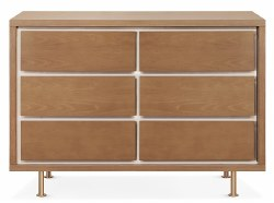 Nursery Works - Novella 6-Drawer Dresser - Stained Ash/Ivory