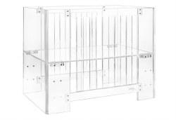 Nursery Works - Vetro Acrylic Mini Crib with Pure Core Mini Crib Mattress