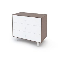 Oeuf - Classic 3 Drawer Dresser - White/Walnut