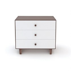 Oeuf - Rhea 3 Drawer Dresser - White/Walnut
