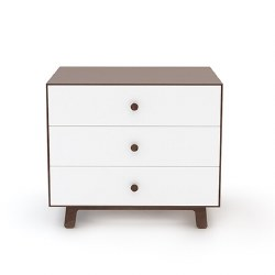Oeuf - Sparrow 3 Drawer Dresser White/Walnut