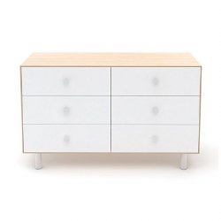 Oeuf - Classic 6 Drawer Dresser - Birch/White