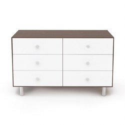 Oeuf - Classic 6 Drawer Dresser - Walnut/White