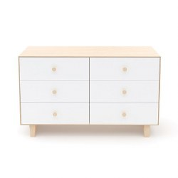 Oeuf - Rhea 6 Drawer Dresser - Birch/White