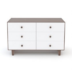 Oeuf - Rhea 6 Drawer Dresser - Walnut/White