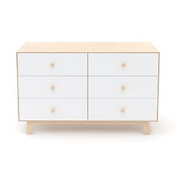 Oeuf - Sparrow 6 Drawer Dresser - Birch/White
