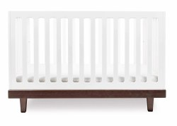 Oeuf - Arbor Crib - White/Walnut