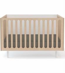 Oeuf - Fawn 2-in-1 Crib - White/Birch