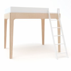 Oeuf - Perch Full Loft Bed - White/Birch