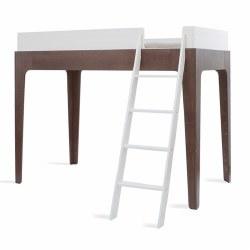 Oeuf - Perch Twin Loft Bed - White/Walnut