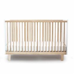 Oeuf - Rhea Crib White/Birch