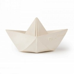 Oli & Carol - Natural Rubber Origami Boat - White