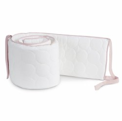 Oilo - Crib Quilted Bumper - Blush