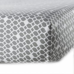 Oilo - Crib Fitted Sheet - Diamond Stone