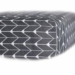 Oilo - Fitted Sheet for Stokke Mini Crib - Finn Charcoal