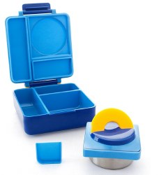 OmieLife - OmieBox Insulated Hot & Cold Bento Box - Blue Sky