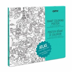 Omy Design - Giant Frameable Coloring Poster - Atlas