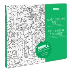 Omy Design - Giant Frameable Coloring Poster - Jungle