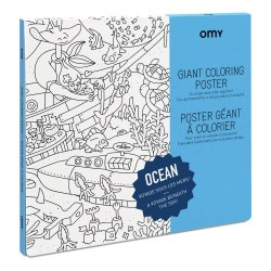 Omy Design - Giant Frameable Coloring Poster - Ocean