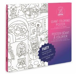 Omy Design - Giant Frameable Coloring Poster - Party