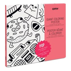 Omy Design - Giant Frameable Coloring Poster - Pop