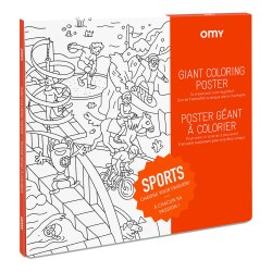 Omy Design - Giant Frameable Coloring Poster - Sports