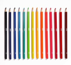 Omy Design - 16-Pack Neon Metallic Pencils