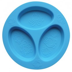 Oogaa - Divided Plate - Blue