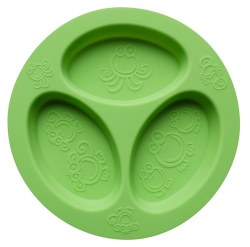 Oogaa - Divided Plate - Green