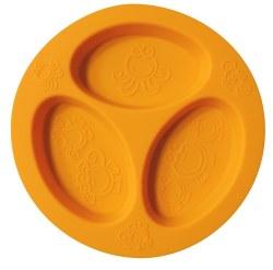 Oogaa - Divided Plate - Orange