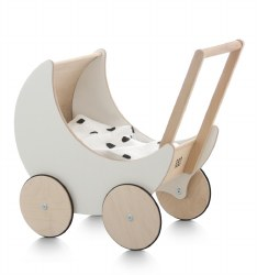 Ooh Noo -  Toy Pram - White