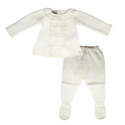 Paz Rodriguez - Knitted Pant Set Paz - Cream 0M