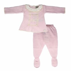 Paz Rodriguez - Knitted Pant Set Paz - Pink 0M