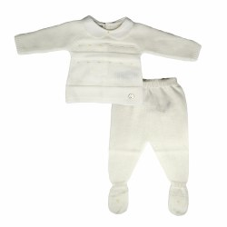 Paz Rodriguez - Knitted Pant Set - Cream 0M