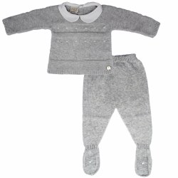 Paz Rodriguez - Knitted Pant Set - Grey 0M