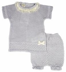 Paz Rodriguez - Knitted Short Set Alma - Grey 3M