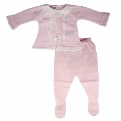 Paz Rodriguez - Knitted Pant Set Esencia - Pink 0M