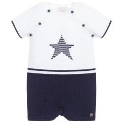 Paz Rodriguez - Knit Short Set Star - White/Navy 3M