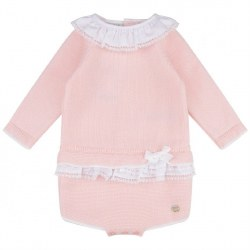 Paz Rodriguez - Knit Long Sleeve Onesie - Pink 3M