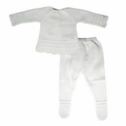Paz Rodriguez - Knitted Vida Pant Set - White 0M